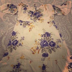 Forever 21 Floral Off the Shoulder Dress